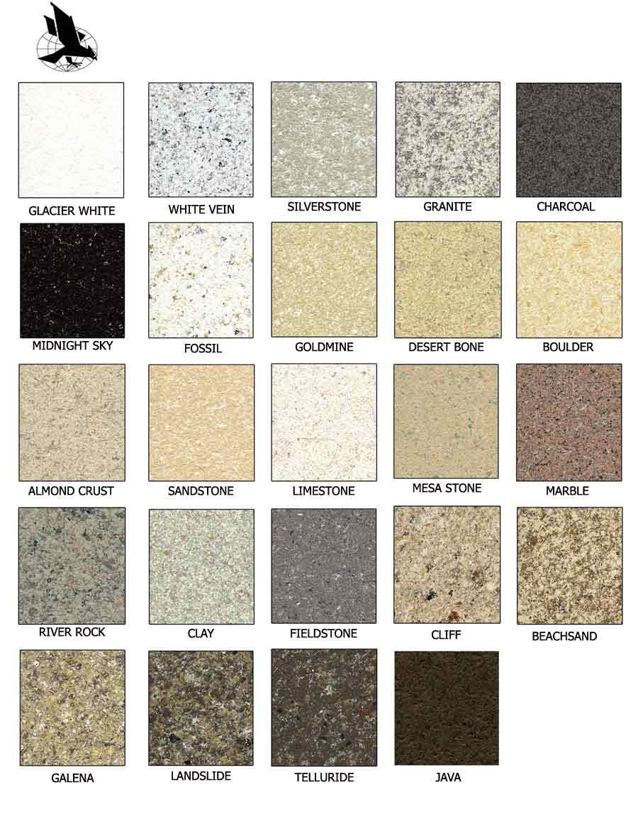 Edmond Bathtub Refinishing - Edmond, OK - Stone-Fleck Color Chart