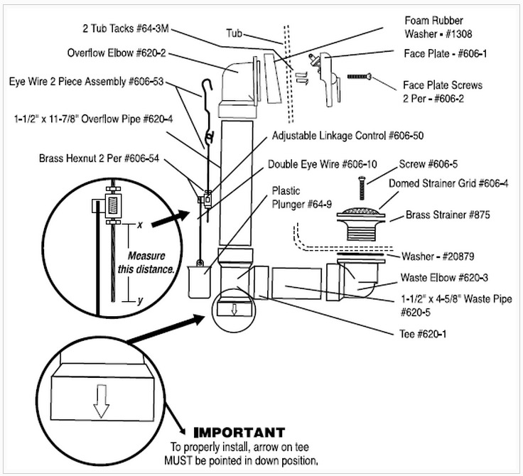 bathtub plumbing installation drain diagramsbathtub drain and plumbing diagram
