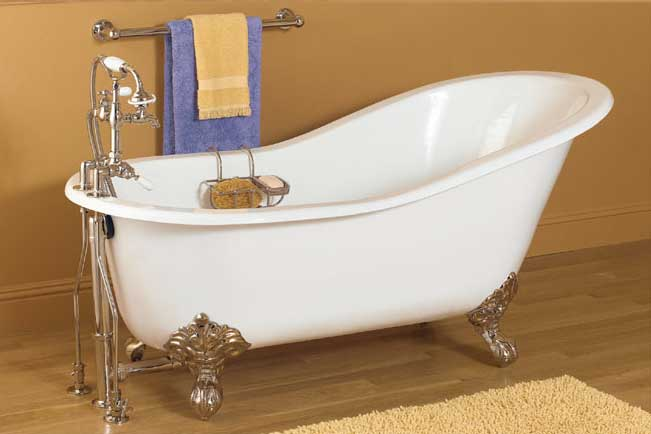 New acrylic clawfoot bathtub for Claw foot soaker tub